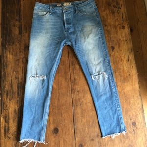 Topman knee slash skinny jeans